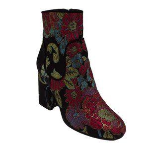 Marc Fisher Women's Floral Booties Zip Up Size 6.5
